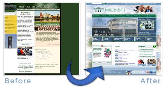 Before and After of Shelton State Community College